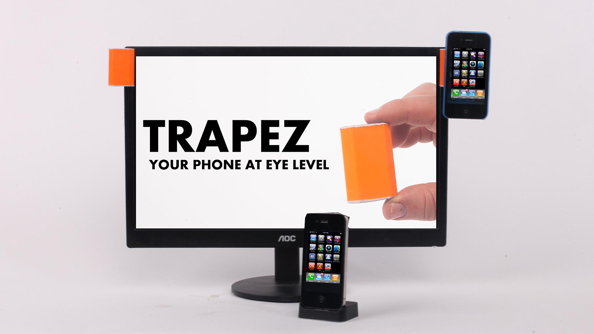 טרפז – תלה את הטלפון על מסך המחשב  וקבל את המיילים וההתראות מול העיניים